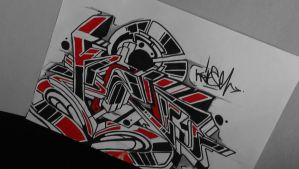 Graffiti Sketch #KRiSE pt1 by Detail by ArtcoreSketches