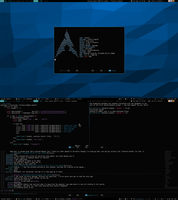 Archlinux + Awesome WM (Aug 13, 2013) by intelfx
