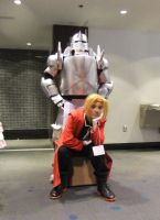 Elric Brothers cosplay 2 by Shiroyuki9