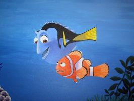 Finding Nemo- Marlin and Dory by Miss-Mitzy