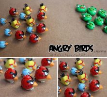 Angry Birds charms by whitefrosty