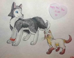 Happy New Year 2014! (ft. character information) by KathrinaKitty