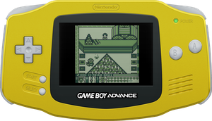 Nintendo Game Boy Advance [Yellow] by BLUEamnesiac