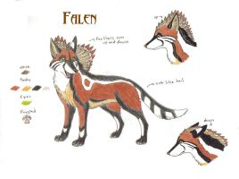Falen Ref- Sheet by HowlingWolfSong