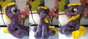 CUSTOM Sitting Derpy plush .:commission:. by Chibi-Katie