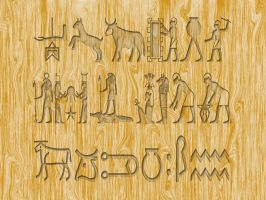 egyptian wood by butchen