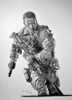 Battlefield 4 pencil drawing by al54xx