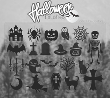 Halloween Brushes by Caramelozha