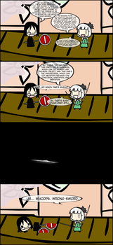 A joke concerning Youmu's swords. by edderiofer