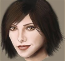 Ashley Greene Portrait by laracremon