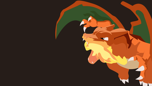 Charizard minimalist wallpaper by Browniehooves