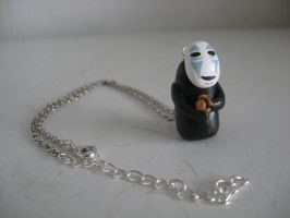 No Face charm necklace by assassin-kitty