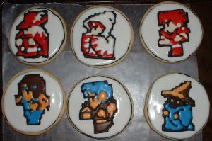Final Fantasy 1 Cookie Set by Afina79