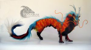 Majestic Koi Dragon Room Guardian by AnyaBoz