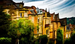 The Proud Town-Houses by wulfman65