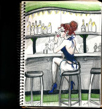 Christopher at the bar by Aeolyn-Rain23