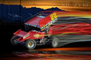 Sprint Car Art #22 by KrazyKcPhotography