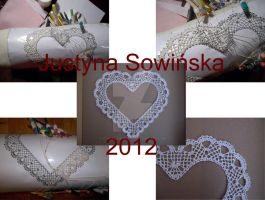 Bobbin lace heart by CohullenDruith