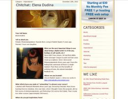 Interview with Elena Dudina by halimpeter