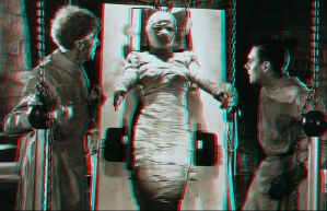 Bride Of Frankenstein Anaglyph by Geosammy