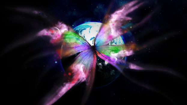 Space Butterfly (Wallpaper Request) by Hardii