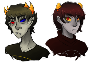 Sollux and Karkat by mutaregenesis