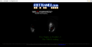 Fnaf 5 Scottgames by widward202thesecond