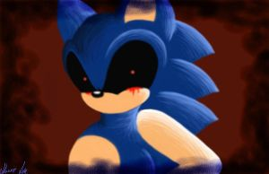 Sonic.exe Painting by srlOctober23
