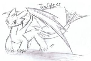 Toothless Doodle by Kyuubi0017