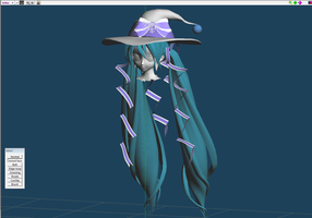 Wip Hair Finish Hatsune Miku Snow Magical 2014 by johnjan11