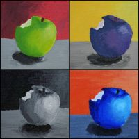 Color Study- Apples by FrankTheSixFootBunny