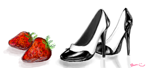 Shoes and Strawberries by Zinchleaf
