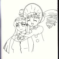Hinata and Lizzie by MalteseSparrow