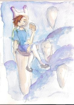 fionna the watercolor human by takuyaleon