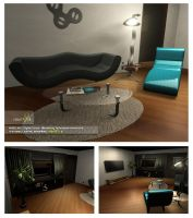 Interior Scene Render Test by robot51ck
