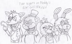 Art Collab: Five Nights at Freddy's by gilster262