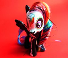 Day of the Dead - Rainbow Dash Hand Painted Toy by PaintIt13lack