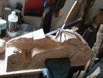 bull fightingh,making the rough dept by woodcarve
