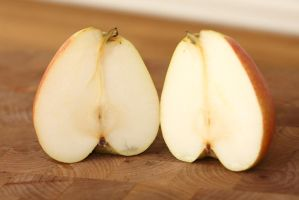 Two Pear Halves by froggynaan