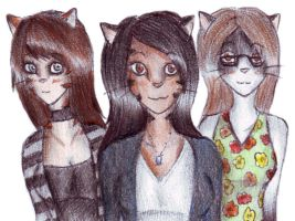 Me, Christine, and Emily by x-Musty-x
