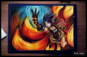League of Legends - Ahri Foxfire by Beshi-senpai