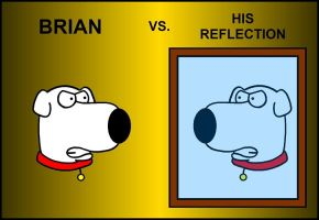 Brian vs. His Reflection by BrianGriffinFan