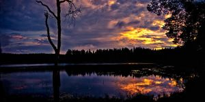 Dramatic sunset by Flaeger