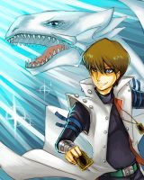 kaiba and blue eyes by chobitsG