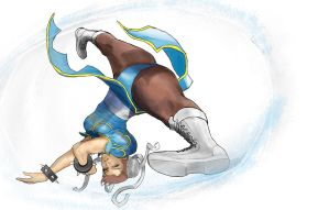 Chun Li SPINNING THE BIRD KICK! by MitternachtAngel