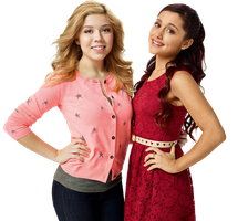 Jennette McCurdy and Ariana Grande Png 01 by ParadisePngs
