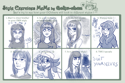 Style exercices meme by Goku-chan: CAINMAK by Cainmak