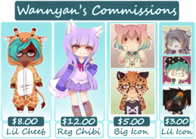 Commission Sheet [CLOSED] by WanNyan