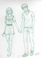HP - Teddy and Victoire Sketch by RubyX4