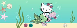 Hello Kitty on the Sea Floor by iluvsparkles